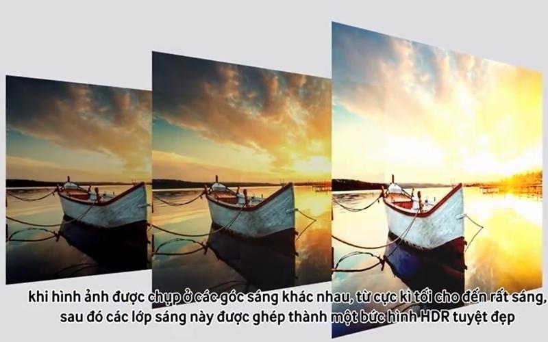 Công nghệ HDR còn giúp tivi Samsung tăng cường độ sáng và độ sâu