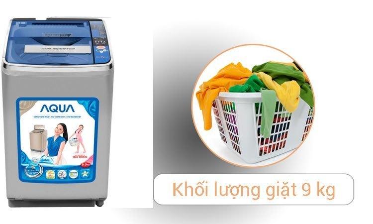 Máy giặt Aqua AQW-D900AT (S) giặt sạch khối lượng quần áo lớn
