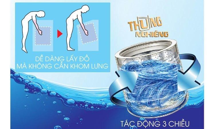 Máy giặt Aqua AQW-D900AT (S) dễ dàng lấy đồ hơn