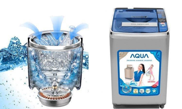 Máy giặt Aqua AQW-D900AT (S) tiết kiệm chi phí tiền điện hàng tháng