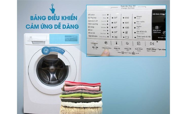 Máy giặt Electrolux EWF85743 bảng điều khiển chạm nhẹ thông minh