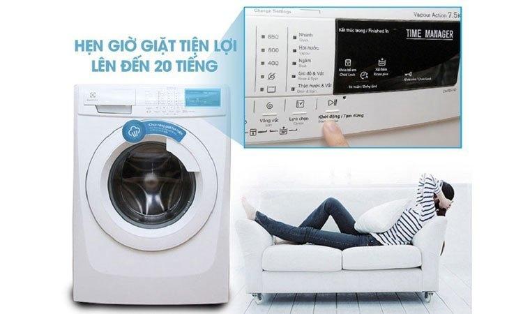 Máy giặt Electrolux EWF85743 quản lý thời gian hiệu quả
