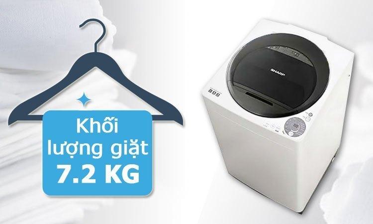 Máy giặt Sharp ES-U72GV khối lượng giặt 7.2 kg