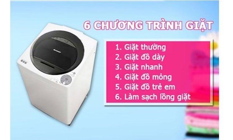 Máy giặt Sharp ES-U72GV-H đem đến sự thoải mái và tiện lợi khi giặt