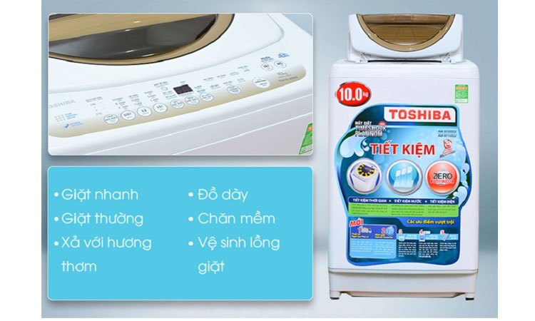 Máy giặt Toshiba AW-B1100GV(WD) 8 chương trình giặt
