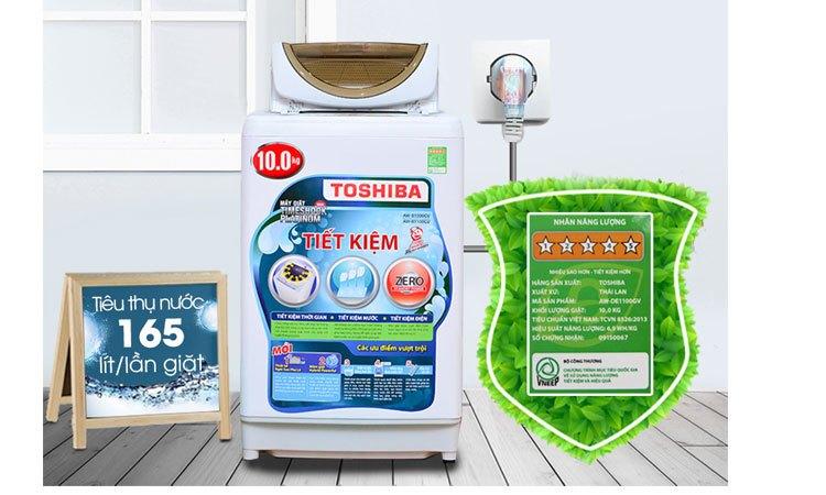 Máy giặt Toshiba AW-B1100GV(WD) tiết kiệm điện, nước hiệu quả