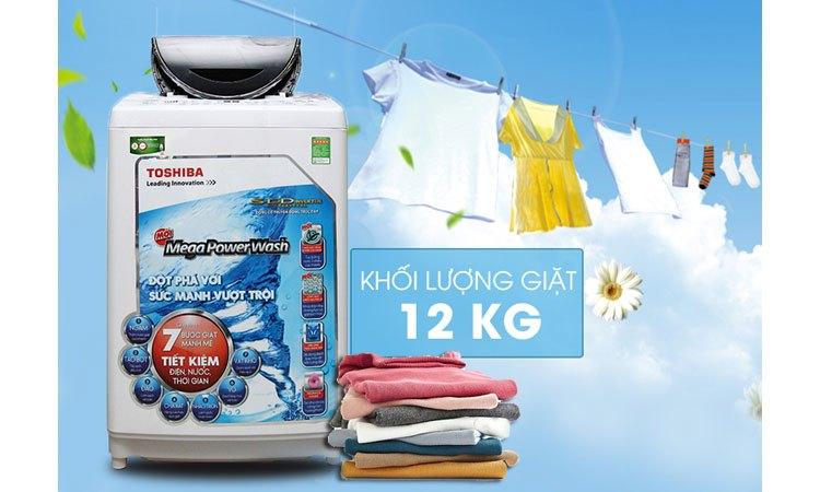 Máy giặt Toshiba AW-DC1300WV (W) khối lượng giặt 12 kg