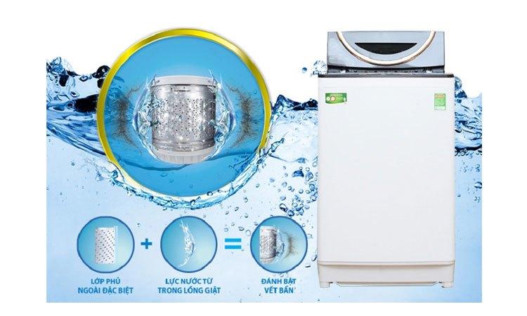 Máy giặt Toshiba AW-DME1200GV (WK) kháng khuẩn hiệu quả