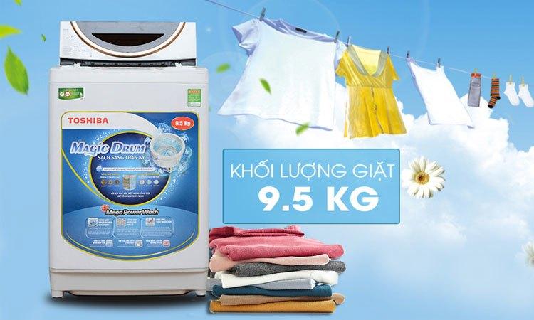 Máy giặt Toshiba AW-ME1050GV (WD) khối lượng giặt 9.5 kg