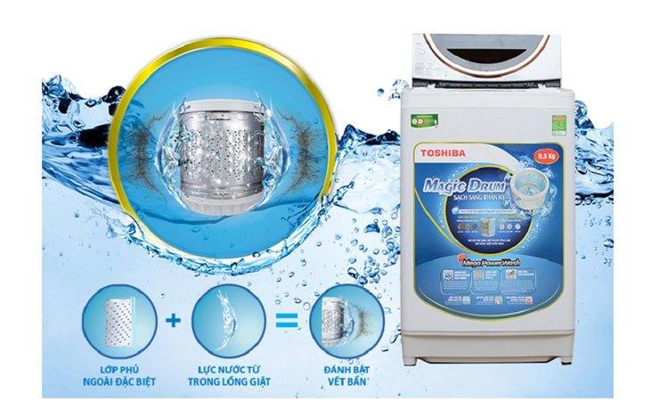 Máy giặt Toshiba AW-ME1050GV (WD) lồng giặt kháng khuẩn tốt
