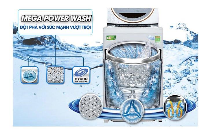 Máy giặt Toshiba AW-ME1050GV (WD) tạm biệt vết bẩn cứng đầu