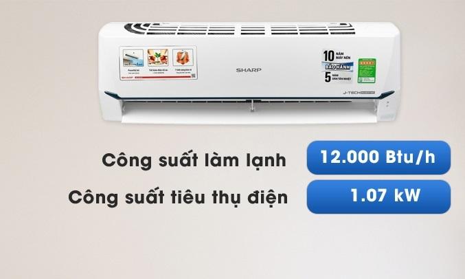 Máy lạnh Sharp Inverter 1.5 HP AH-X12XEW làm lạnh nhanh chóng