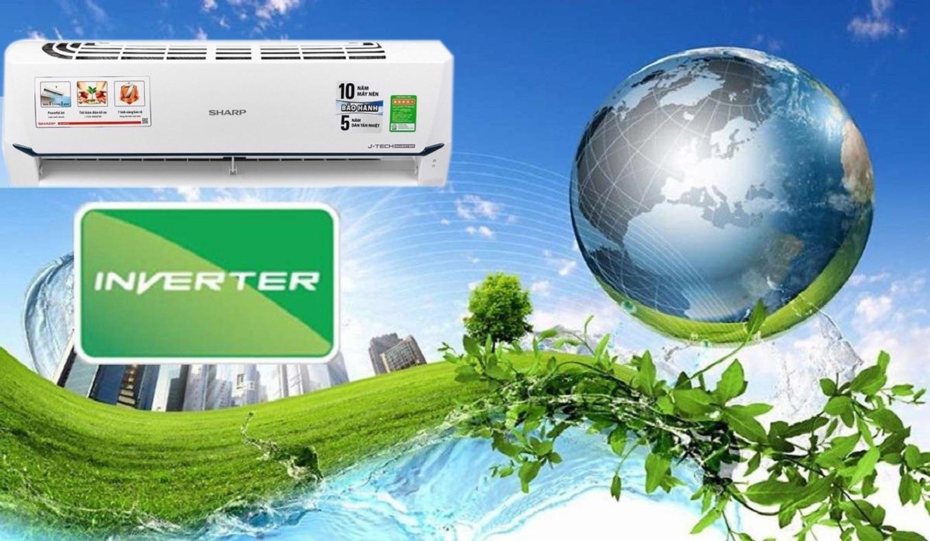 Máy lạnh Sharp Inverter 1.5 HP AH-X12XEW tiết kiệm điện năng hiệu quả