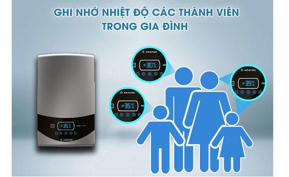 Máy nước nóng Ariston ST45PE-VN ghi nhớ nhiệt độ thông minh