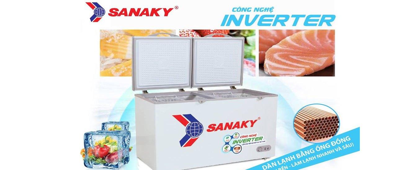 Tủ đông Sanaky Inverter 270 lít VH-3699A4K độ bền cao