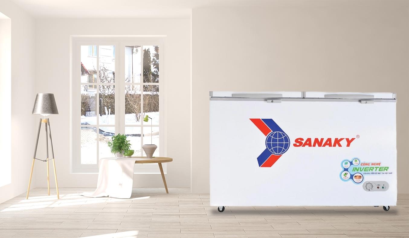 Tủ đông Sanaky Inverter 305 lít VH-4099A3 thiết kế sang trọng, hiện đại