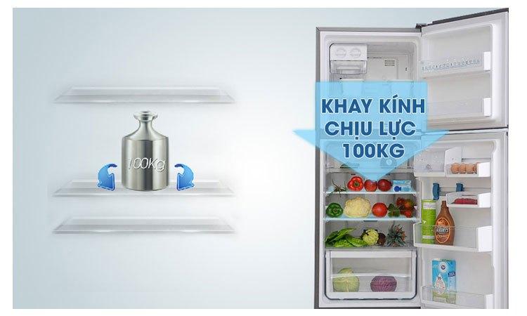 Tủ lạnh Electrolux EBB3500PA-RVN khay kính bền bỉ, bố trí được nhiều thực phẩm