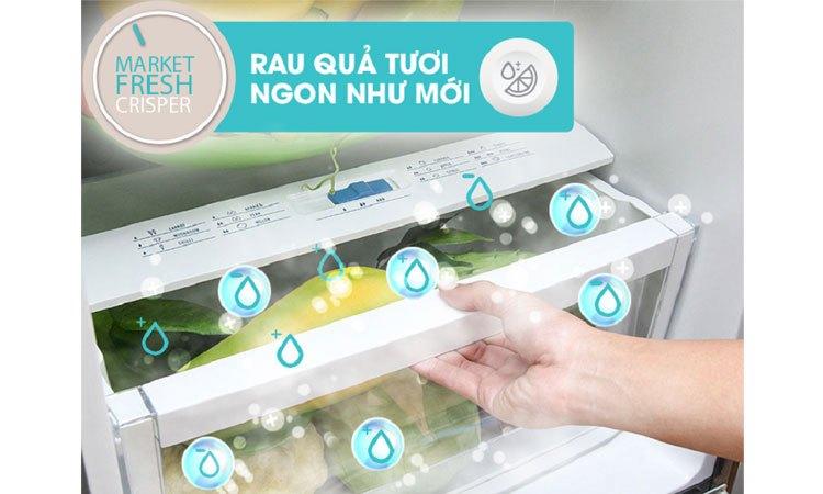Tủ lạnh Electrolux EBB3500PA-RVN ngăn rau quả giữ độ ẩm tốt, không bị héo úa