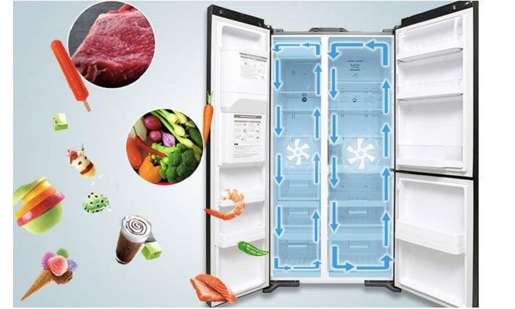 Tủ lạnh Hitachi R-M700AGPGV4X (DIA) làm lạnh hiệu quả