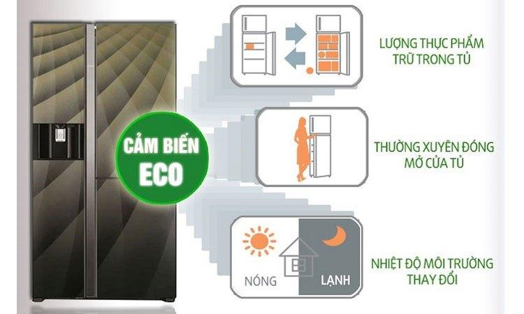 Tủ lạnh Hitachi R-M700AGPGV4X (DIA) cảm biến Eco thông minh