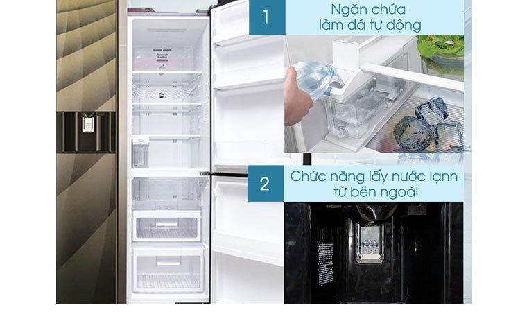 Tủ lạnh Hitachi R-M700AGPGV4X (DIA) làm đá nhanh hơn