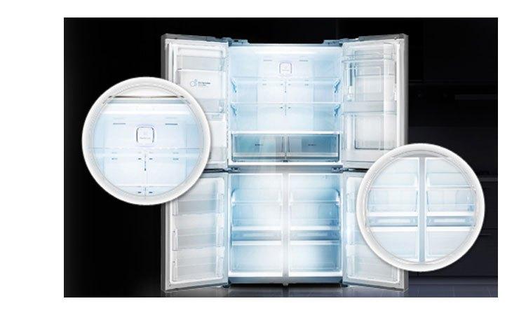 Tủ lạnh LG GR-R24FGK đèn LED chiếu sáng tốt