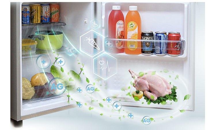 Tủ lạnh Panasonic NR-BJ158SSVN kháng khuẩn khử mùi hôi hiệu quả