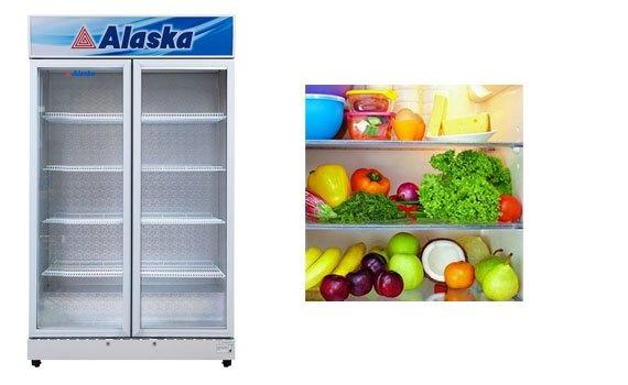 Tủ lạnh Alaska SL-12C hoạt động công suất 520W