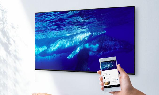 Tivi Sony Bravia OLED 65A1 truy cập nhanh chóng