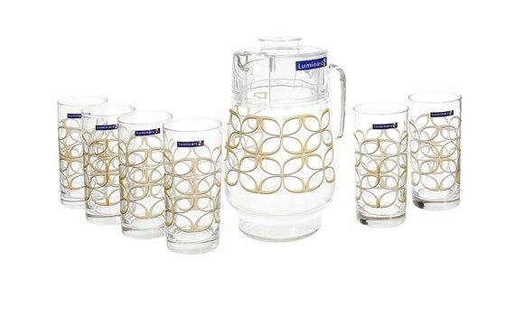 Bộ bình ly thủy tinh Luminarc Maze Gold 7 Món giá rẻ hấp dẫn tại nguyenkim.com