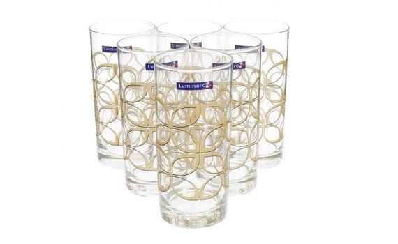 Bộ bình ly thủy tinh Luminarc Maze Gold 7 Món thiết kế sang trọng, đẹp mắt