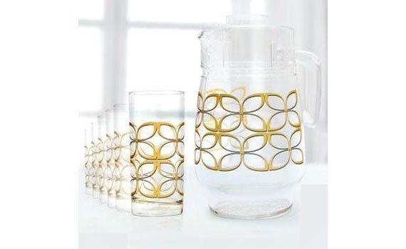 Bộ bình ly thủy tinh Luminarc Maze Gold 7 Món chắc tay khi cầm