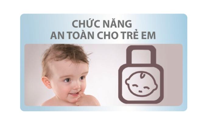 Máy giặt Aqua 12 kg AQW-FR120CT (W) Tính năng khóa trẻ em