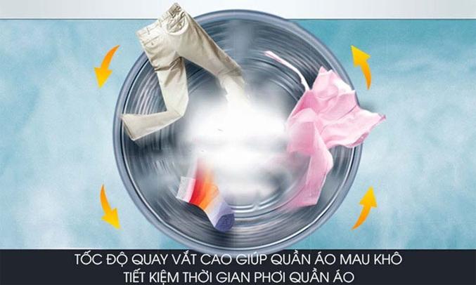 Máy giặt Aqua 12 kg AQW-FR120CT (W) Tính năng vắt cực khô