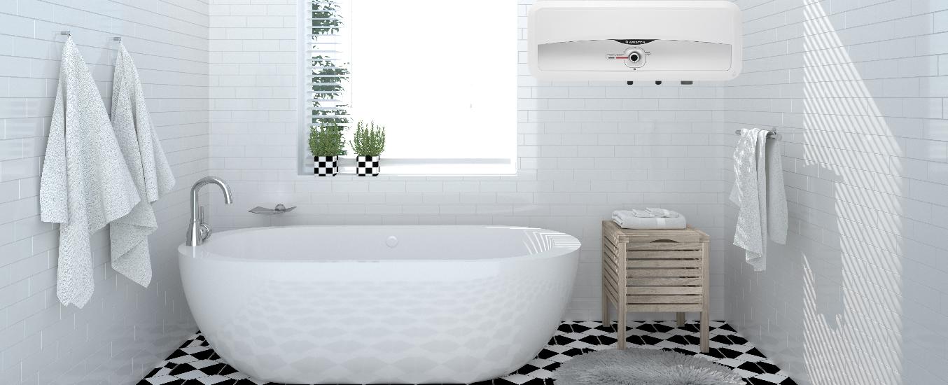Máy nước nóng Ariston SL2 20 RS 2.5 FE- MT - Thiết kế đơn giản, nhỏ gọn, phù hợp mọi không gian nội thất