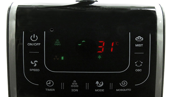 Các nút điều khiển trên quạt phun sương