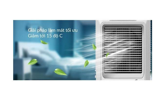 Quạt điều hòa Sunhouse SHD7742 giảm nhiệt độ phòng xuống 15 độ C
