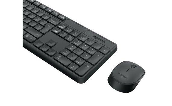 Bộ bàn phím và chuột Logitech MK235 kết nối không dây tiện lợi