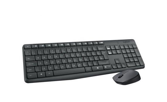 Bộ bàn phím và chuột Logitech MK235 chuột hoạt động mượt mà