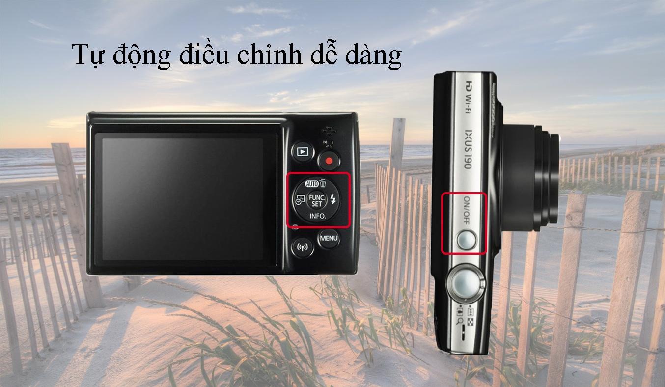 Máy ảnh Canon IXUS 190 màu đen dễ dàng sử dụng