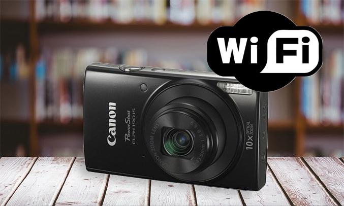 Máy ảnh Canon IXUS 190 màu đen kết nối tiện ích