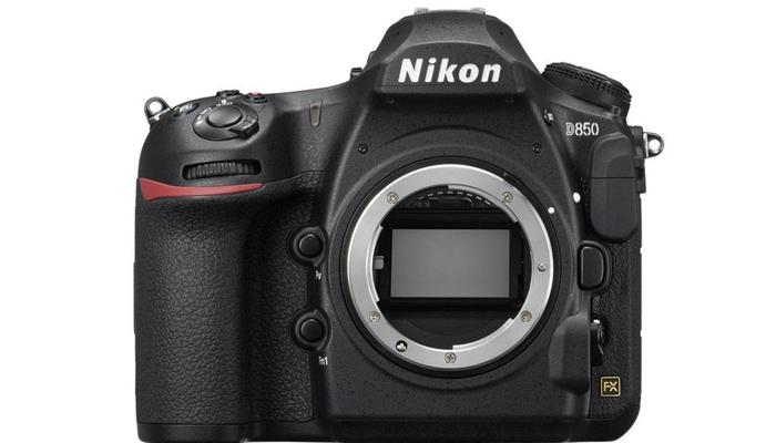 Chính diện máy ảnh Nikon D850