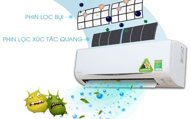 Máy lạnh Daikin tấm lọc kháng khuẩn