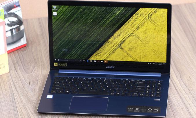 Laptop Acer Swift 3 ST315-51-530V(NX.GSKSV.001) bảo mật vân tay
