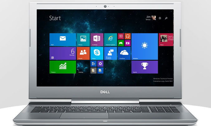 Laptop Dell Vostro 7570 - 70138566 giao diện đẹp mắt