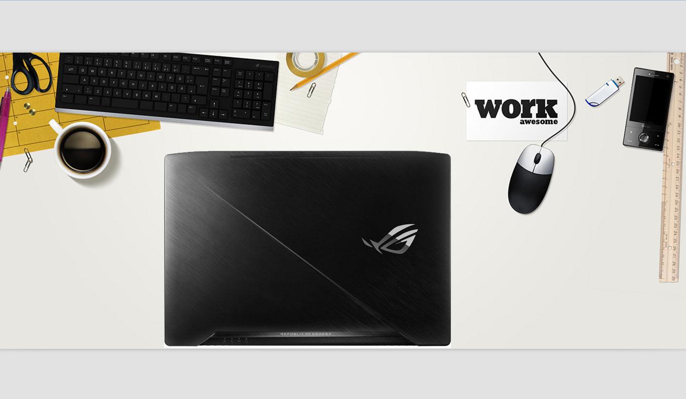 Laptop AsusROG STRIX GL503VD - GZ119T thiết kế mỏng nhẹ