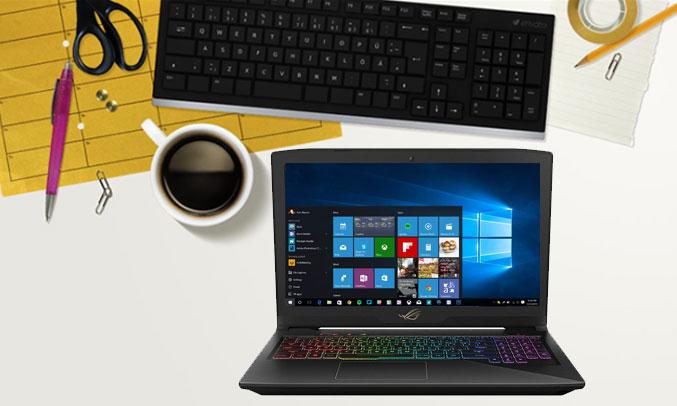 Laptop AsusROG STRIX GL503VD - GZ119T chạy hệ điều hành window 10