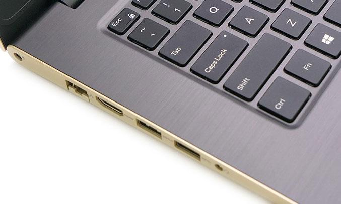 Laptop Dell Vostro V5468A - P75G001 đầy đủ cổng kết nối