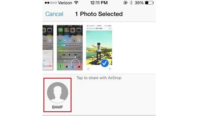 Airdrop cho bạn gửi ảnh qua điện thoại iPhone, iPad nhanh chóng