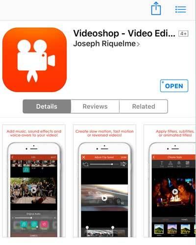 Tải ngay ứng dụng Video Shop về điện thoại nếu bạn thích đăng video trên Facebook